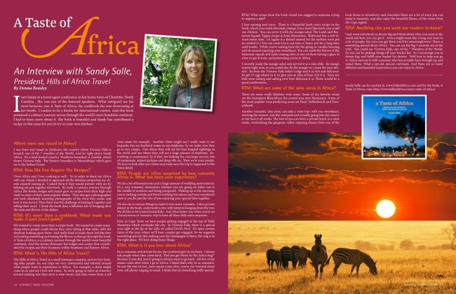 romance travel mag feature